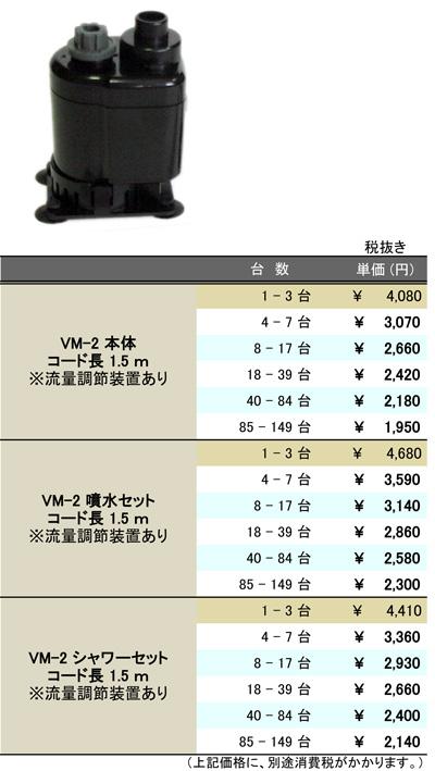 [B2B] 多台数割引表(VM-2A)