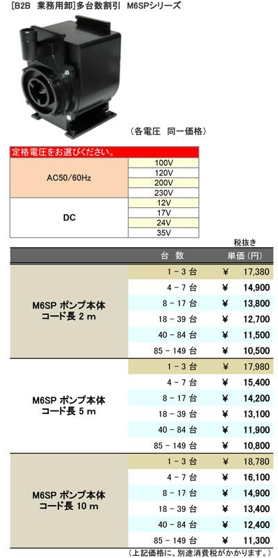 [B2B] 多台数割引表(M6SP本体)