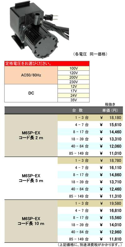 [B2B] 多台数割引表(M6SP-EX)