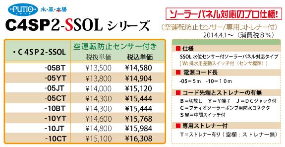 C4SP2-SOL(ソーラー・プロ仕様)シリーズ一覧(2013.7.10版)